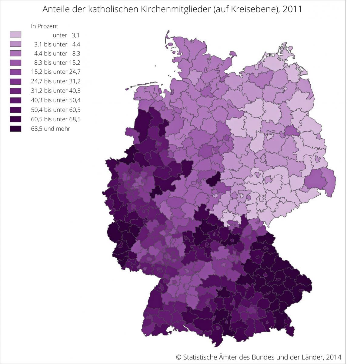 Deutschland (3): Der katholische Süden und Westen | fowid